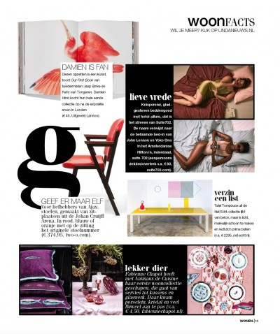 TAFEL TOMPOUCE IN LINDA MAGAZINE