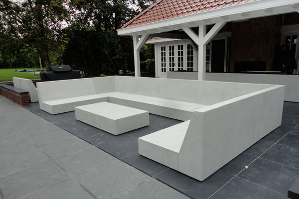 Loungeset for Moderne loungebank tuin